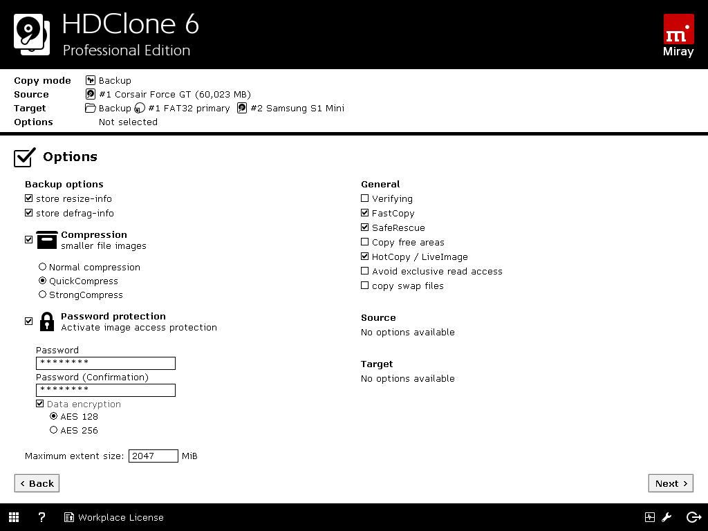 HDClone 8 Professional Edition | Miray Software